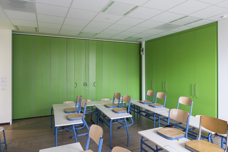 BREEDVELD vouwwand FP600 - klaslokaal deling