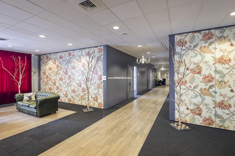 Breedveld sfeervolle paneelwanden met prints - meerdere ruimtes voorzien van deuren